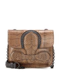 Bottega Veneta | Multicolor Snakeskin Shoulder Bag | Lyst