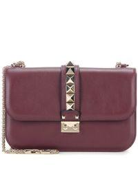 Valentino - Red Lock Medium Leather Shoulder Bag - Lyst