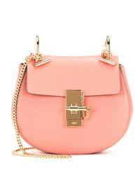 Chloé | Pink Drew Mini Leather Shoulder Bag | Lyst