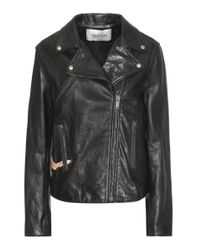 Valentino | Black Printed Leather Jacket | Lyst