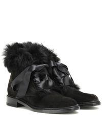 Saint Laurent Black Army Ankle Boots