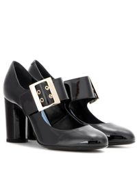 Lanvin | Black Patent Leather Mary Jane Pumps | Lyst