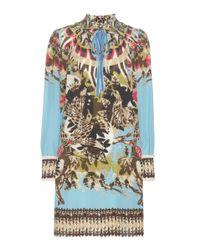 Roberto Cavalli Multicolor Printed Silk Dress