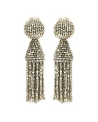 Oscar de la Renta | Metallic Classic Short Tassel Earrings | Lyst