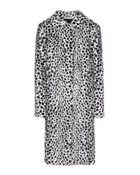Givenchy | Black Printed Fur Coat | Lyst