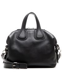 Givenchy - Black Nightingale Small Leather Tote - Lyst