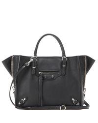Balenciaga | Black Mini Papier A4 Zip Around Leather Shoulder Bag | Lyst