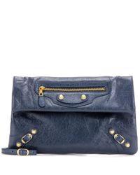 Balenciaga | Blue Giant 12 Envelope Leather Clutch | Lyst
