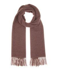 Acne Studios Brown Canada Narrow Wool Scarf