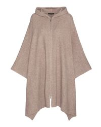 The Row - Natural Asham Cashmere And Silk-blend Poncho - Lyst