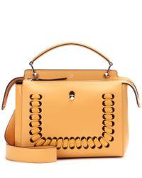 Fendi - Yellow Dotcom Leather Shoulder Bag - Lyst