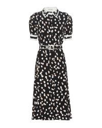 Altuzarra Black Ella Polka-dot Printed Crêpe Dress