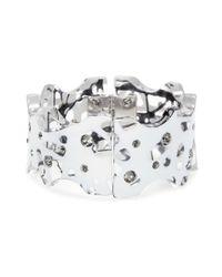 Christopher Kane - White Crystal-embellished Bracelet - Lyst