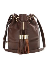 See By Chloé | Brown Vicki Small Leather Bucket Bag | Lyst