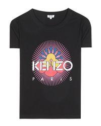 KENZO Black Printed Cotton T-shirt