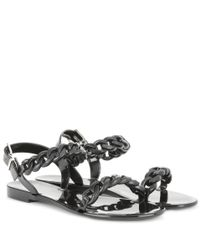 Givenchy Black Jelly Flat Sandals