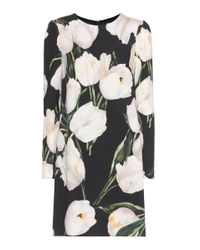 Dolce & Gabbana | Multicolor Floral-printed Wool Dress | Lyst