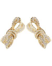 Dolce & Gabbana | Metallic Crystal-embellished Clip-on Earrings | Lyst