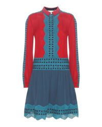 Tory Burch | Brodie Embroidered Silk Dress | Lyst