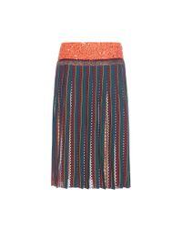 Tory Burch | Blue Nadia Pleated Silk Midi Skirt | Lyst