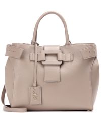 Roger Vivier | Gray Pilgrim De Jour Medium Leather Tote | Lyst
