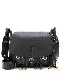 cdc4636bb218 Lyst - Prada Corsaire Leather Cross-Body Bag in Black