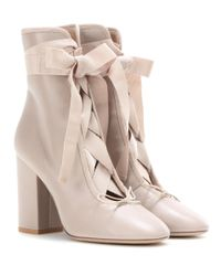 Valentino Natural Garavani Leather Ankle Boots