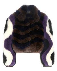 Fendi Multicolor Printed Fur Jacket