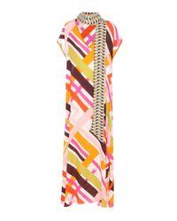 Emilio Pucci - Multicolor Printed Silk-blend Dress - Lyst