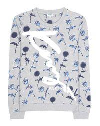 KENZO   Blue Printed Cotton Sweatshirt   Lyst