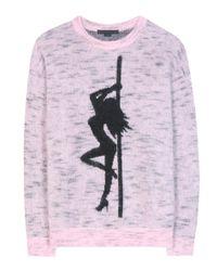 Alexander Wang | Pink Jacquard Girl Sweater | Lyst