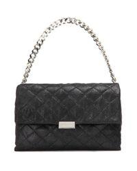 Stella McCartney Black Soft Beckett Medium Quilted Shoulder Bag