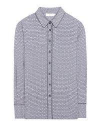 Tory Burch - Blue Cherie Printed Silk Shirt - Lyst