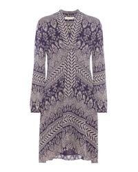 Tory Burch - Purple Bourdelle Silk Dress - Lyst
