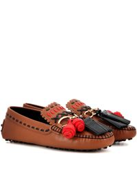 Tod's Red Gommino Leather Loafers