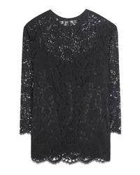 Dolce & Gabbana | Black Lace Top | Lyst