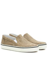 Isabel Marant Brown Checked Blumy Sneakers