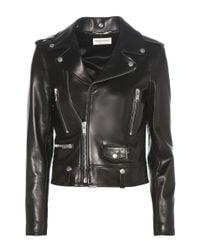 Saint Laurent Black Classic L01 Love Patch Leather Jacket