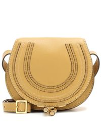 Chloé | Yellow Marcie Small Leather Shoulder Bag | Lyst