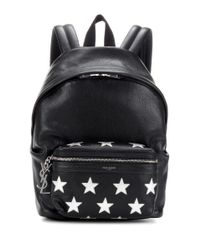 Saint Laurent Black City California Small Leather Backpack