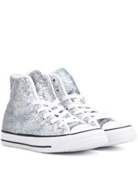 Converse - Metallic Chuck Taylor All Star High-top Sneakers - Lyst