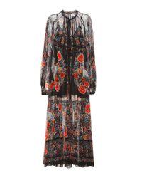 Roberto Cavalli | Multicolor Printed Cotton Maxi Dress | Lyst