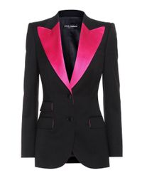 Dolce & Gabbana Black Virgin Wool And Silk-blend Jacket