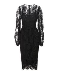 Dolce & Gabbana | Black Tulle And Lace Dress | Lyst