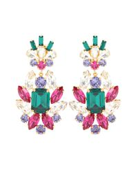 Dolce & Gabbana - Multicolor Crystal Clip-on Earrings - Lyst