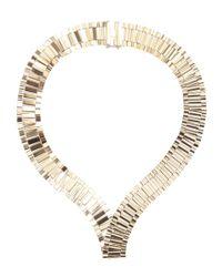 Lanvin | Metallic Brass Collar Necklace | Lyst