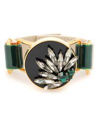 Marni | Green Crystal Embellished Bracelet | Lyst
