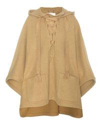Chloé Natural Virgin Wool-blend Poncho