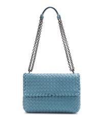 Bottega Veneta   Blue Olimpia Small Intrecciato Leather Shoulder Bag   Lyst