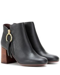 See By Chloé | Black Leather Ankle Boots | Lyst